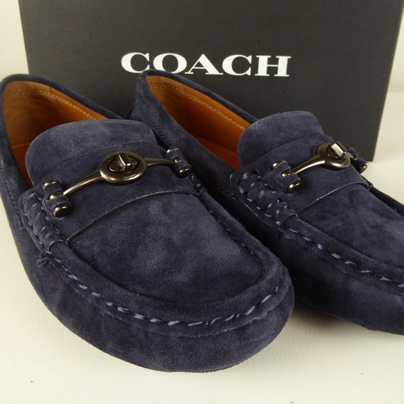 7cac7e6efbb Coach Suede Cosby Driver Shoe Midnight Navy Loafer